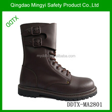 Lace front buckles side stitched military boots