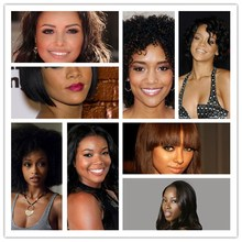 Short Curl Brazilian Virgin Glueless Full Lace Human Hair Wigs None Lace Wigs Natural Color Lace Front Wigs For Black Women