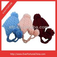 Fashion Handmade Earflap Hat 100 Beanie Stock