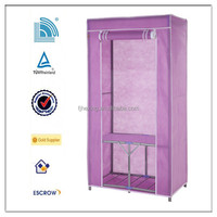 2015 most fashion folding fabric Wardrobe for family