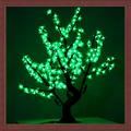 Hasta la luz verde del árbol 0.8m color led cerezos en flor la luz del árbol de plástico de flores de cristal