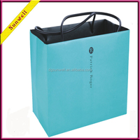 2016 colorful paper shopping bags with pp handlers