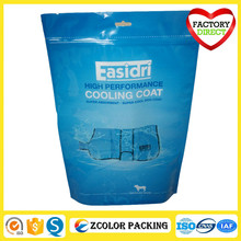 plastic stand up pouch bag with zipper