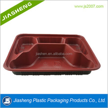 Manufacturer Biodegradable Disposable Plastic Fast Food Packaging With Compartments