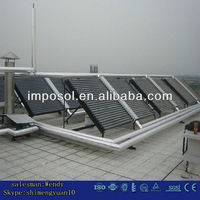 vacuum tube solar collector for swimming pools