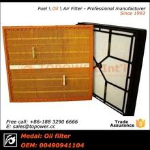 Cortador de grama máquina de pregas filtro de ar / todos os tipos filtro de ar 0040941104