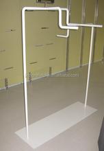 Freestanding gondola 4 way metal display rack for cloth retail store fixture