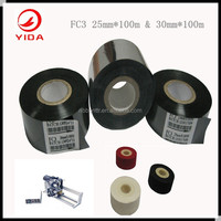30mm*100m coding tape for ribbon hot stamping machine FC3 black stamping tape