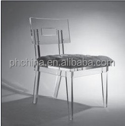 15 years' SGS factory sell home furniture pure SGS New Cast Acrylic material acrylic dinning chair for family