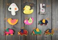 holiday brooches and pins for children clothing decoration mushroom duck rabbit bird pig shape brooch fancy kids brooch