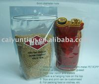 Stand up pouches with zip top for packaging food