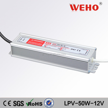 24 month warranty 50W 12v led driver constant current waterproof power supply