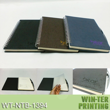 Embossed pattern pu cloth hardcover notebook
