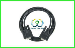 10 ft db9 to vga cable M/F Serial Extension Cable RS232 Black Color