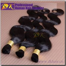 Finest quality loose wavy natural color premium human hair attachment for braids