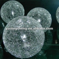 2015 new hot sale Decorative Clear Glass crackle ball hollow glass balls