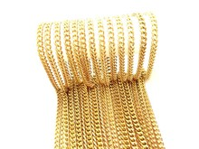 Fashion Necklace, Gold-Plated Brass Chain Necklace Wholesale, PT8038.