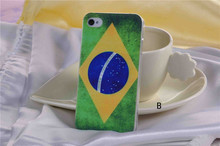 Customed design your own country flag phone cover for iphone 4
