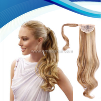 blonde human hair ponytail fake hair ponytails wrap around human hair ponytail