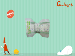 Unisex cheap disposable sleepy baby diaper with advanced baby diaper production line
