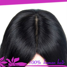 silk top women toupee hair piece brazilian human hair top piece