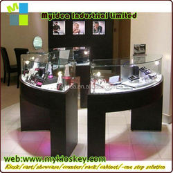 fashion kiosk showcase design jewelry furniture store with glass case spinning jewelry display