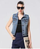 high quality new fashion europe america denim vest wholesale
