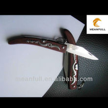 Pakka color wooden handle stainless pattern knife folding