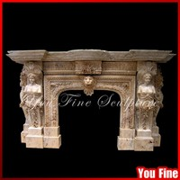 Handcarved China Decorative Marble Fireplace Mantel