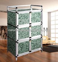 Home furniture office furniture Aluminium Alloy tube MDF board locker modern Storage Cabinet cheap kitchen living room cabinets