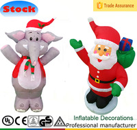DK-101 103 4ft cheap Christmas inflatable Elephant and santa outdoor decorations 2013