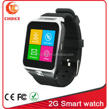 2015 2g cheap touch screen watch mobile phones with pedometer