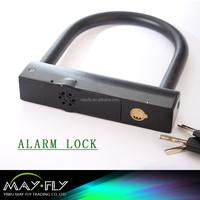 Hot Saled New product U shaped Motorcycle alarm lock ,motorcycle alarm lock,bicycle alarm locks