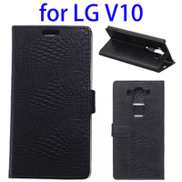 Crocodile Texture Magnetic Horizontal Flip Stand Leather Wallet Case for LG V10