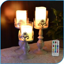 Romantic Style Decoration Hot Selling Remote Control Smart Living Flameless Led Candles
