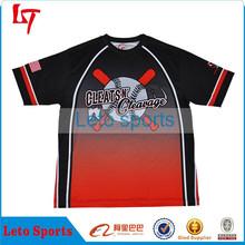 Sublimation dri fit custom softball jerseys slow pitch softball jersey print raglan baseball tshirt