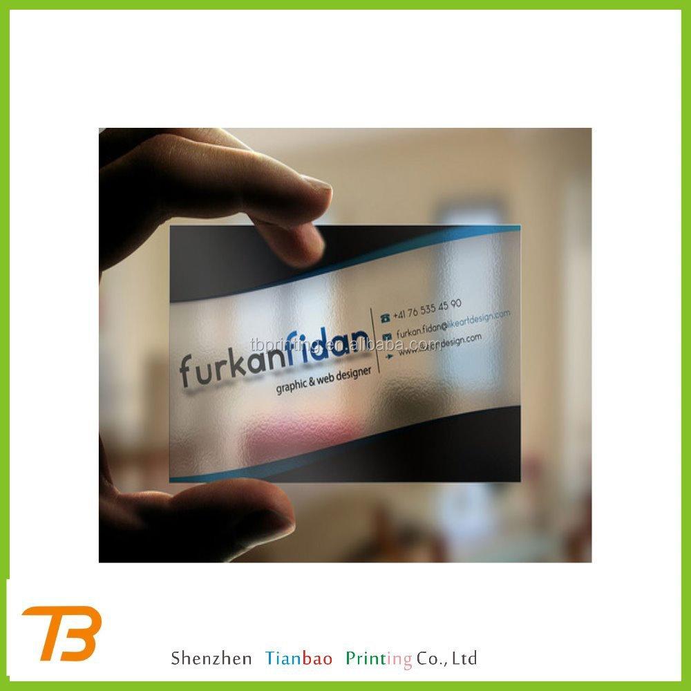 Custom logo printed 3d transparent plastic business cards buy plastic6 reheart Gallery