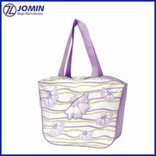 purple pattern cheap shopping bag promotion