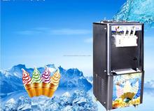 Italiano máquina de sorvete, 3 / três sabores de sorvete do arco-íris