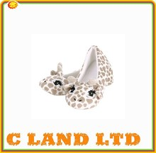 fluttering eyelashes floppy ears giraffe slippers custom plush slippers