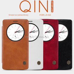 ORIGINAL NILLKIN LEATHER CASE FOR LG G4 QIN SERIES CARD SLOT FLIP COVER G4 ROUND WINDOW VIEW SLEEP AND WAKE UP SMART CASE