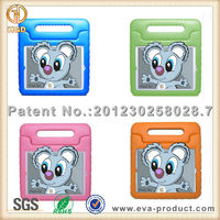 Kids friendly EVA foam hard handle tablet cases for ipad air