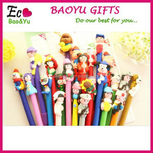 Custom Logo Variety Styles Cheap Polymer Clay Pen Promotional Ball Pen Ballpoint Pen