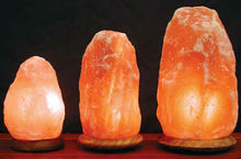 Amazing Himalayan Rock Salt Lamp with Wooden/Marble Base