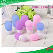 Travel supplies silicone empty personalized shampoo bottles 38ml / 60ml /80ml