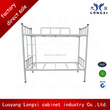 School furniture metal dormitory double bed, steel bunk bed