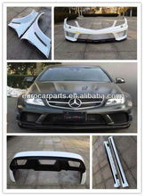 High quality C63 black series widebody body kit fitting for BENZ C-CLASS C63 4 door 10~