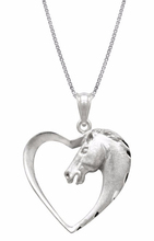 Horse In Heart Pendant Necklace ,Lucky Pendant Necklace ,Ideal Gift For Horse Lover