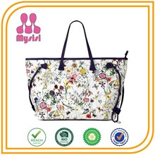 Flowers Printed Women Handbags Good Quality Cheap Bags Wholesale Fashion Ladies Large Leather Handbags from China