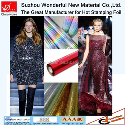 2015 Hot Sale Multicolor Hot Stamping Foil for textile